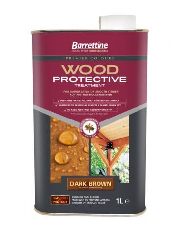 Barrettine wood protector dark brown 1L